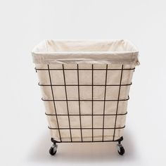 MESH LAUNDRY BASKET WITH WHEELS - Baskets - Bathroom | Zara Home United States of America