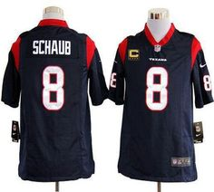 d161157ed Nike Texans  8 Matt Schaub Navy Blue Team Color With C Patch Men s Stitched  NFL