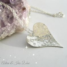 Heart Necklace - Valentines Special Price Offer until 15th February!    This Sterling silver necklace has been lovingly hand made by Heather to