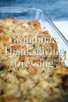 Grandma's Thanksgiving Dressing is the best side dish for any holiday meal where turkey and gravy are involved! Grandma's Thanksgiving Dressing is the best side dish for any holiday meal where turkey and gravy are involved! Stuffing Recipes For Thanksgiving, Thanksgiving Sides, Holiday Recipes, Dressing For Thanksgiving, Best Stuffing Recipe, Bread Stuffing For Turkey, Traditional Thanksgiving Food, Recipes Dinner, Baked Stuffing