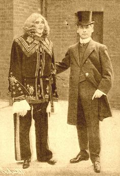 """early 1900's sideshow automotom named """"Enigmarelle."""" - Turns out to just be a guy in a suit."""