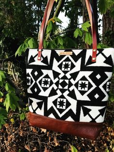 215cc331f0 Black and White Pendleton Wool Purse