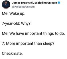 7 Year Olds, Wake Up, Things To Do, Funny, Things To Make, Funny Parenting, Hilarious, Fun, Humor