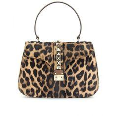 Valentino Va Va Voom Animal Print Haircalf Bag ($1,699) ❤ liked on Polyvore featuring bags, handbags, purses, bolsas, valentino, a, calf hair handbags, valentino handbags, pony hair handbags and animal print handbag