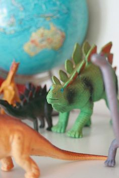 dinosaurs and globes, dude.