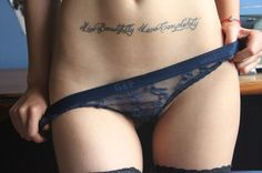 Live beautifully. Love completely. accross the stomach tattoo le-corps-the-body
