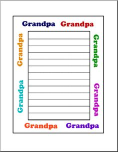 Grandparents Day Theme Unit - Free Printable Worksheets, Games, and Activities for Kids