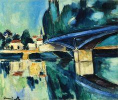 The Bridge at Nogent (1910) Maurice de Vlaminck