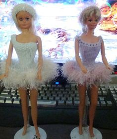 Ladyfingers - Barbie - Ice Skating Costume, Skates and Ballerina Costume