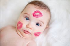 7 cute ideas for photographing a baby for Valentine's Day