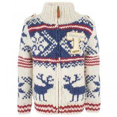 Scotch Shrunk Chunky Knit Cream Cardigan