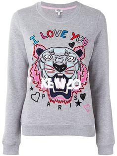 KENZO Tiger And Slogan Sweatshirt. #kenzo #cloth #sweatshirt