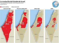 división de territorios israel y palestina - Buscar con Google