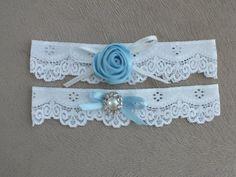 wedding garters bridal garters lace garters bride by geranum, $18.50