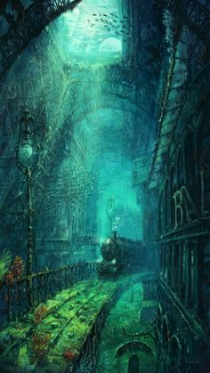 The forgotten legacy of Gustav Eiffel - Michael Raaflaub Illustration Fantasy Places, Fantasy World, Fantasy Artwork, Fantasy Concept Art, Fantasy Kunst, Anime Fantasy, Dark Fantasy, Stock Foto, Atlantis