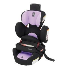 Kiddy World Plus Car Seat in Lavendar. $299.99 ***FEATURES*** Original Kiddy Protection Shield - Side Impact Protection - Easy Adjustable Headrest - 2-way Folding Seat Cushion - Lightweight Design (Only 15 lb.) - Integrated Shoulder Belt Guides - Durable Cover - Comfortable Armrest - Can be used in aircraft.