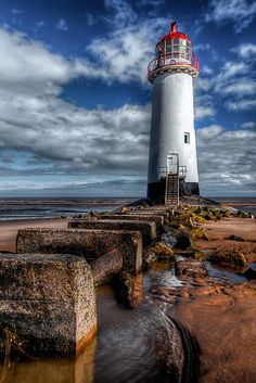 The Crooked Lighthouse at Talacre Beach, Flintshire, North Wales, UK by Adrian Evans~~