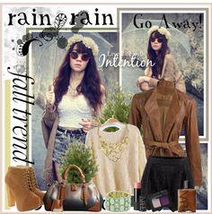"""RAIN RAIN Go Away!"" by fashiontake-out on Polyvore"