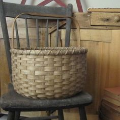 Handwoven Primitive Style Baskets - woven by me! I enjoy making historical reproduction baskets, functional baskets to use as storage