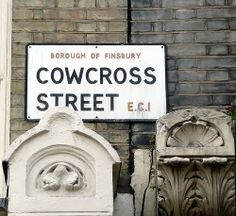 Cowcross Street - (Borough Of Finsbury) Smithfield Market, Street Names, Old London, London Street, Carpet Tiles, Old And New, Roads, Crafts To Make, The Neighbourhood