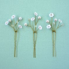 """Items similar to Pretty beaded bridal hairpins """"Sophie"""" on Etsy"""