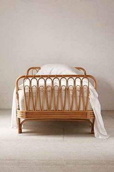 Canoga Rattan Bed - Urban Outfitters (turned sideways for a really pretty daybed/couch) Cane Furniture, Bamboo Furniture, Furniture Design, Luxury Furniture, Furniture Ideas, Rattan Bed Frame, Bamboo Bed Frame, Bed Frame Design, Interior Design