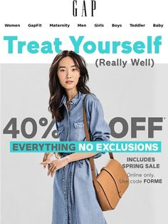 ALERT: we've enclosed a NO exclusions offer + up to 75% off sale - Gap