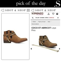 Pick of the day – Booties with a golden touch! #Booties #ShotnShop #fashion #app