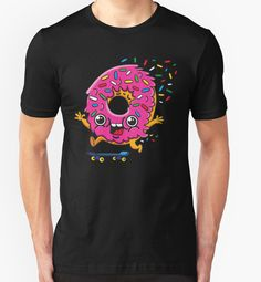 Skater Donut by plushism • Also buy this artwork on apparel, stickers, phone cases, and more. @redbubble