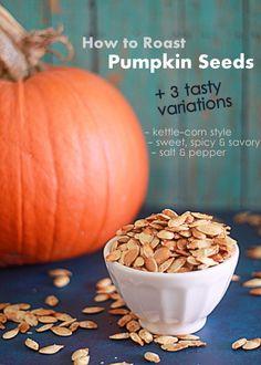 How to roast pumpkin seeds (+ 3 tasty variations) | Kitchen Treaty