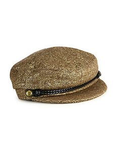 02c93c3a384 Eugenia Kim Elyse Metallic Marine Cap - Gold News Boy Hat