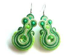 Soutache Jewelry, Drop Earrings, Handmade, Drop Earring, Hand Made, Dangle Earrings, Handarbeit