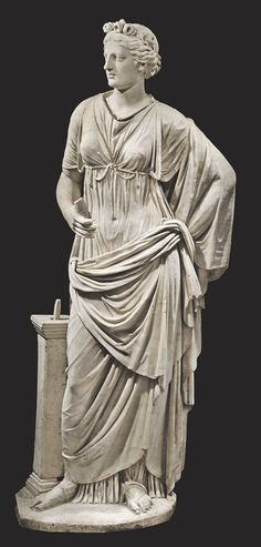 Roman Marble Draped Female (ca century A. Ancient Rome, Ancient Greece, Ancient Art, Ancient History, Roman Sculpture, Sculpture Art, Sculptures, Sculpture Romaine, Art Romain