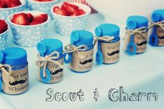 little man birthday party favors - Google Search