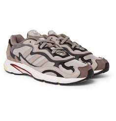 adidas Originals - Temper Run Mesh and Suede Sneakers 2f963258a