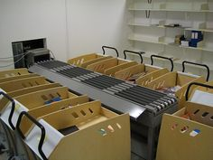 Lyngsoe Library Mater Mini Sorter with trolleys