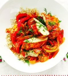 Chicken Paprikash: You can serve this rich and flavorful braised chicken traditionally over dumplings or noodles, but it's also good served over mashed butternut squash, roasted root vegetables or grains such as brown rice or farro. Once you've mastered it with chicken, try it with pork, beef or lamb.