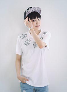 3Dクロス柄プリントメッシュTシャツ SFSELFAA0015530