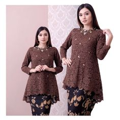 ⛔️SOLD OUT⛔️ (coco brown) Bust Sleeve Length fully lined For more details and price please contact us :) LINE : EIWA . Kebaya Modern Hijab, Kebaya Hijab, Kebaya Dress, Kebaya Muslim, Kebaya Bali, Modest Fashion Hijab, Muslim Fashion, Fashion Dresses, Hijab Dress Party