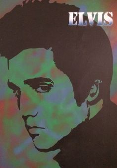 Elvis painted with spray paint, and acrylic on canvas by Ryan Watts. For sale. #elivs #popart #art