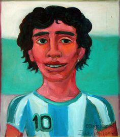 Pinturas sobre el Futbol argentino y mundial del artista Diego Manuel. Pinturas em Futebol. Paintings on soccer.