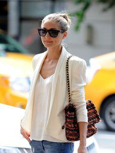 Olivia Palermo, NYC Wearing: Jacket: Rebecca Minkoff; Bag: Mulberry