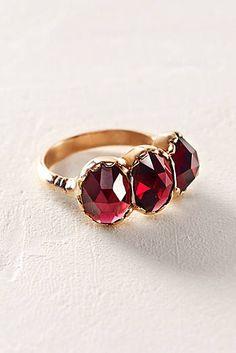 Garnet Trinity Ring