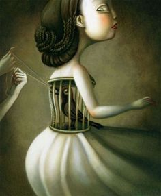 "One image from the book ""Blanche-Neige"" (Snow White), illustration by Benjamin Lacombe. Pablo Picasso, Pop Surrealism, Realism Art, Dark Art, Unique Art, Fantasy Art, Fairy Tales, Cool Art, Collages"