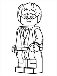 How to Draw Emmet from The Lego Movie and Lego Minifigures