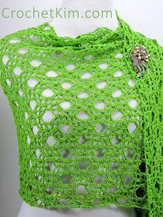CrochetKim Free Crochet Pattern | Rings Fling Wrap Shawl @crochetkim