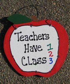 Teachers Gifts  9171THC  Teachers Have Class by NannieandBCrafts, $2.95