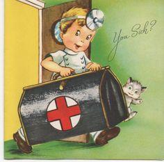 "Vintage ""get well"" card"