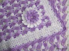 GANCHILLO patrón manta del bebé manta hermosa por LyubavaCrochet