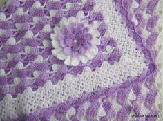 Crochet Pattern Beautiful Lilac Baby Blanket by LyubavaCrochet